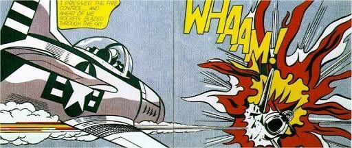 Retrouvez l'analyse d'oeuvre du tableau Whaam ! (1963) de l'artiste peintre célèbre Roy Lichtenstein, artiste du mouvement Pop Art.