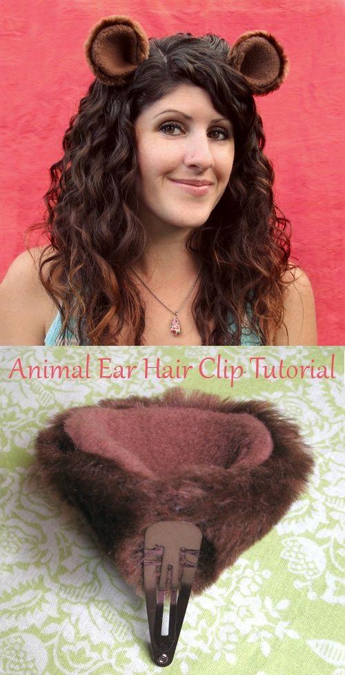 Hahaha, you never know when yoiu made need some animal ears lol Animal Ear Hair Clips Tutorial for Easy Halloween Costume