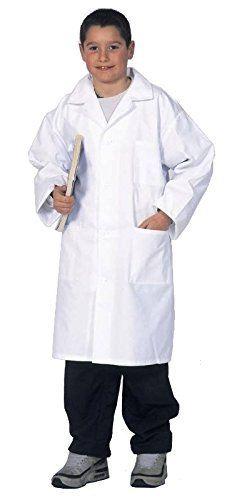 Blouse blanche enfant 10 12 14 et 16/17 ans, fille ou garcon, Cours de physique-Chimie, 100% coton: 100% coton Col tailleur Tissu sergé