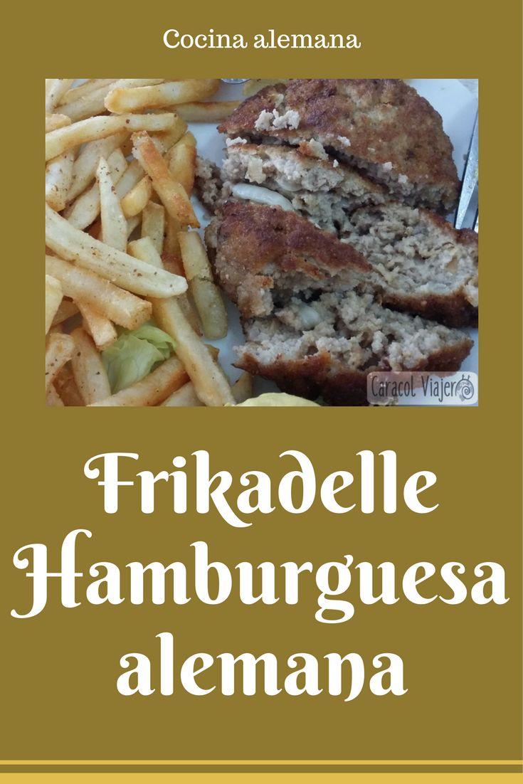 Receta de la hamburguesa alemana con carne de ternera/cerdo y cebolla.  #hamburguesas #frikadelle