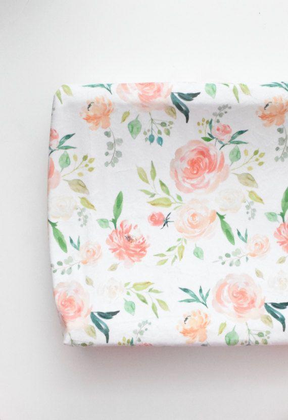 Cambio de funda para la almohadilla - secreto jardín Floral, Coral, melocotón, Blush y crema flores