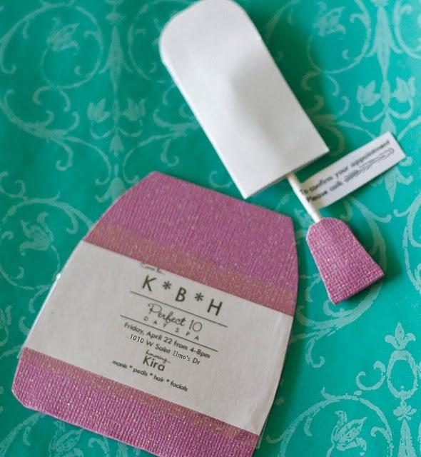 Nail polish invitations