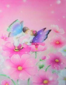 永田萌さんの模写 コスモス畑 女性限定エアブラシ教室【大阪】~誰 ...