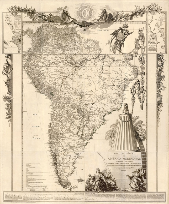 8 best vintage maps images on pinterest mapas clsicos mapa geogrfico de america meridional from 1775 gumiabroncs Images
