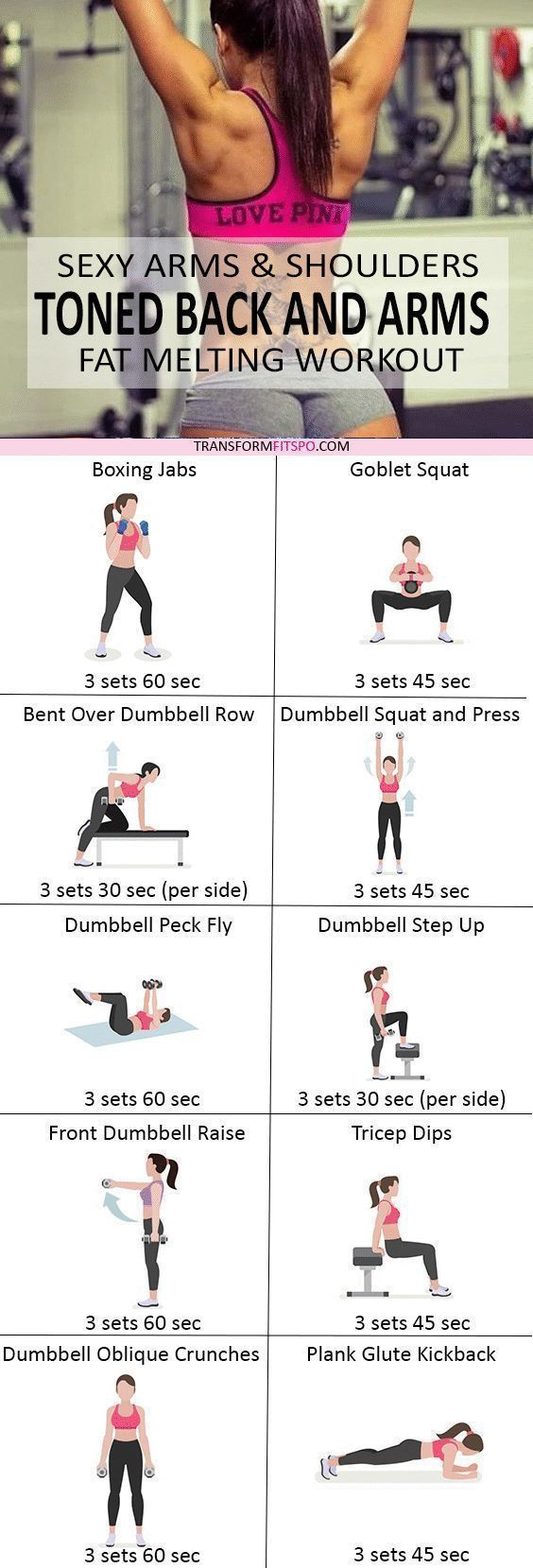 Repin and share if this tightened your arms and made you feel sexy! Read the post for the full workout!