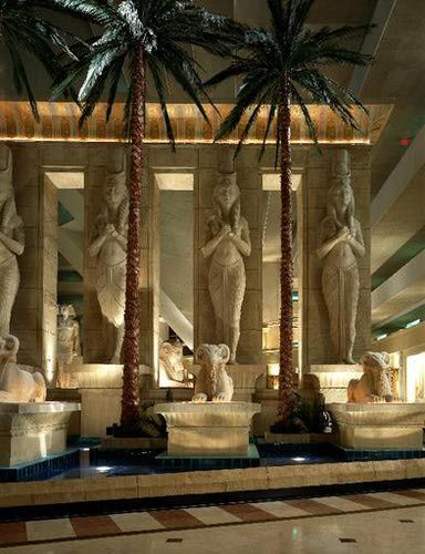 Statues In The Lobby: Pictures of the Luxor Hotel Casino