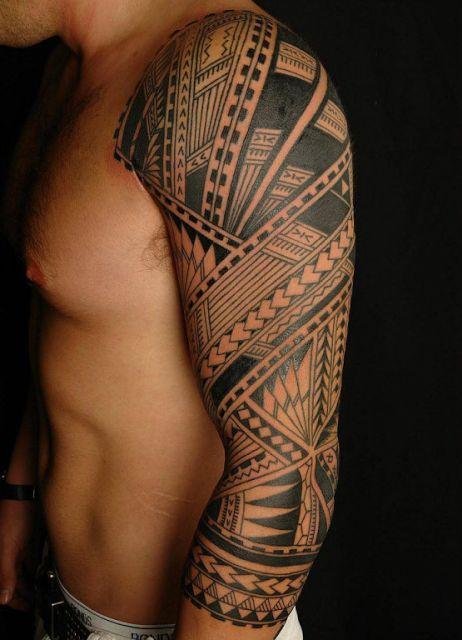 Long Sleeve Tribal Tattoo