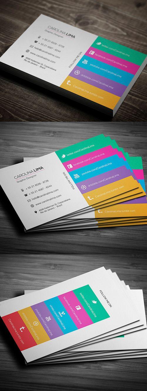 Tarjeta de visita Diseñador Creativo