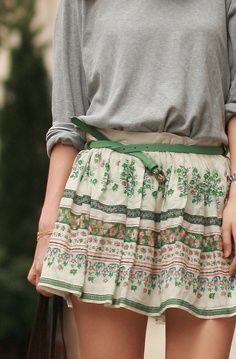 Love this skirt! would be super cute to add tights with riding boots for a cooler day!