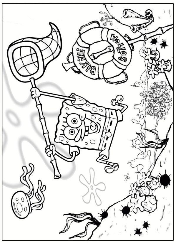 60 best spongebob squarepants colouring pages images on Pinterest - best of spongebob underwater coloring pages