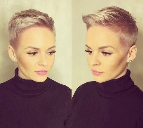Womens short hair.