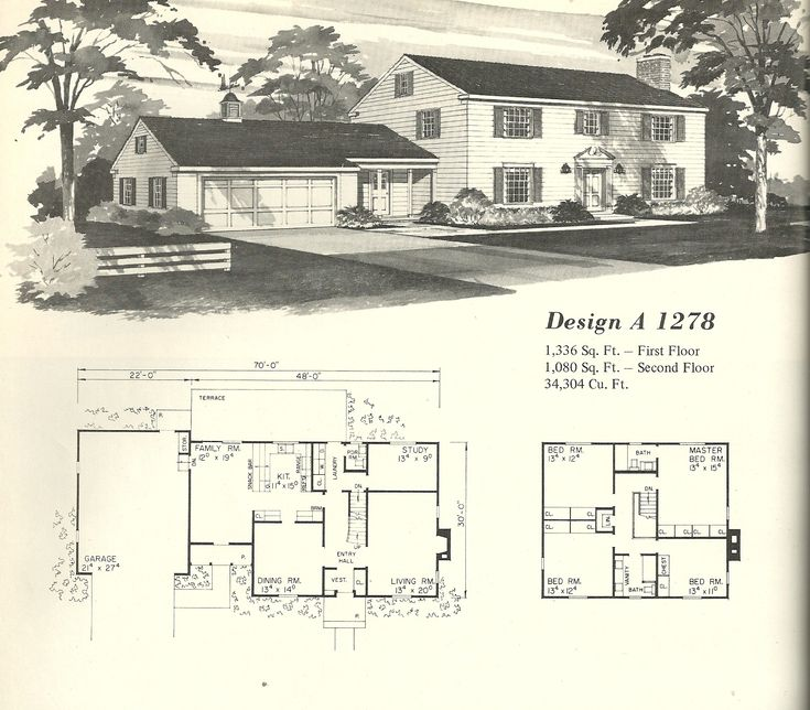 251 Best Images About Vintage Floorplans On Pinterest