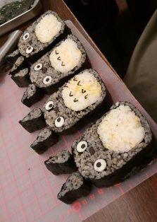 日本人のごはん/お弁当 Japanese meals/Bento トトロ巻き寿司 Totoro maki sushi!! ^__^ studio ghibli food