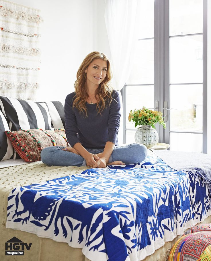 Moroccan wedding as headboard {Imports from Marrakesh} 5 Daring Design Ideas From This HGTV Star's Home