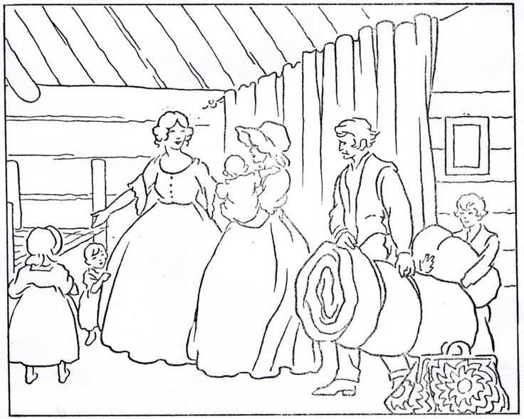 little house on the prairie christmas coloring pages