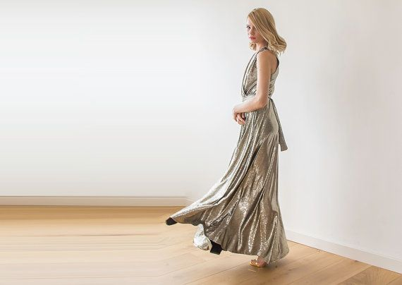 Hey, I found this really awesome Etsy listing at https://www.etsy.com/listing/222704299/metallic-maxi-dress-maxi-sleeveless