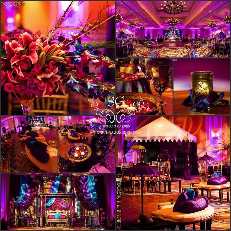 Suhaag Garden and Tanirika Pakistani Mehndi Decor Ritz Carlton Grande Lakes Orlando Florida