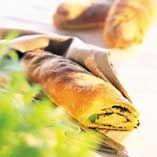 Grønne baguetter - Opskrifter    http://www.dansukker.dk/dk/opskrifter/gronne-baguetter-dk.aspx  #grøn #sommer #baguett #dansukker #opskrift