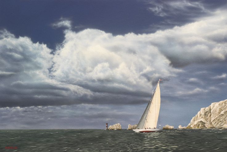 """""""Weather Front"""" by Neil Hamelin. #painting #art #artwork #realism #hyperrealism #seascape #ship #marineart"""