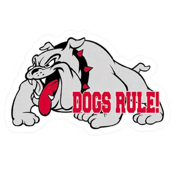 Bulldog Mascot Magnet  via www.schoolspiritstore.com