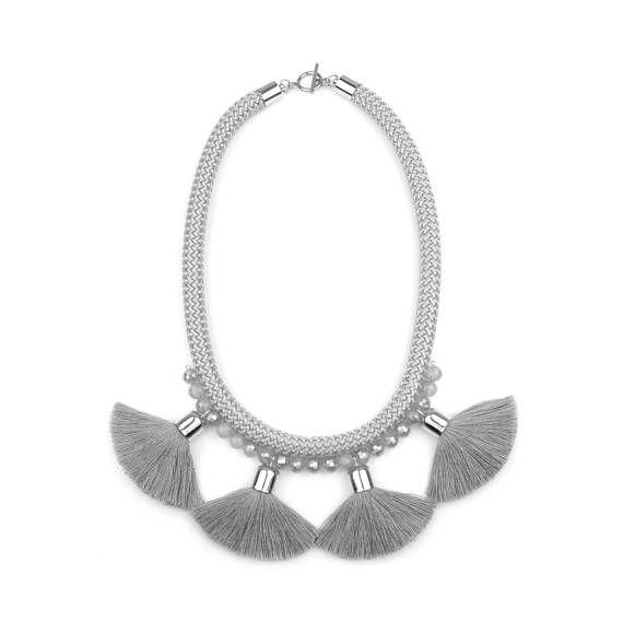 Grey Rope Necklace. Statement Tassel Necklace. Collana. by casseljewelry #fashion #handmadejewelry #handmade #jewelry #unique #design #casseljewelry #fashionjewelry #jewelrydesign #etsy #ShopEtsy #EtsyFinds #EtsyForAll