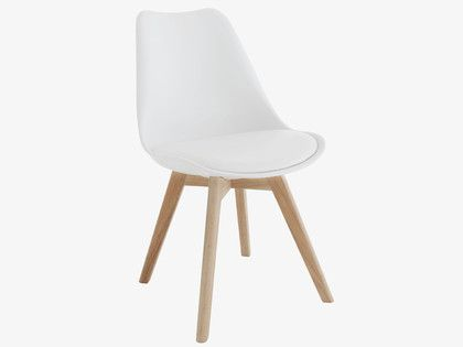 Compact and comfortable the jerry white dining chair is a for White plastic dining chair