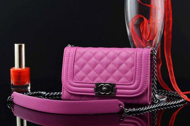 Chanel Iphone 6 Case Bag Style with Mirror Rose Red Free Shipping - Deluxeiphone6case.com