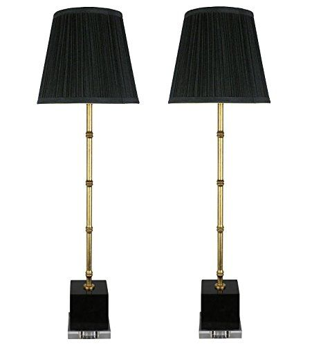 Urbanest set of 2 serrino buffet lamps gold with black m https · buffet lampstable lamp