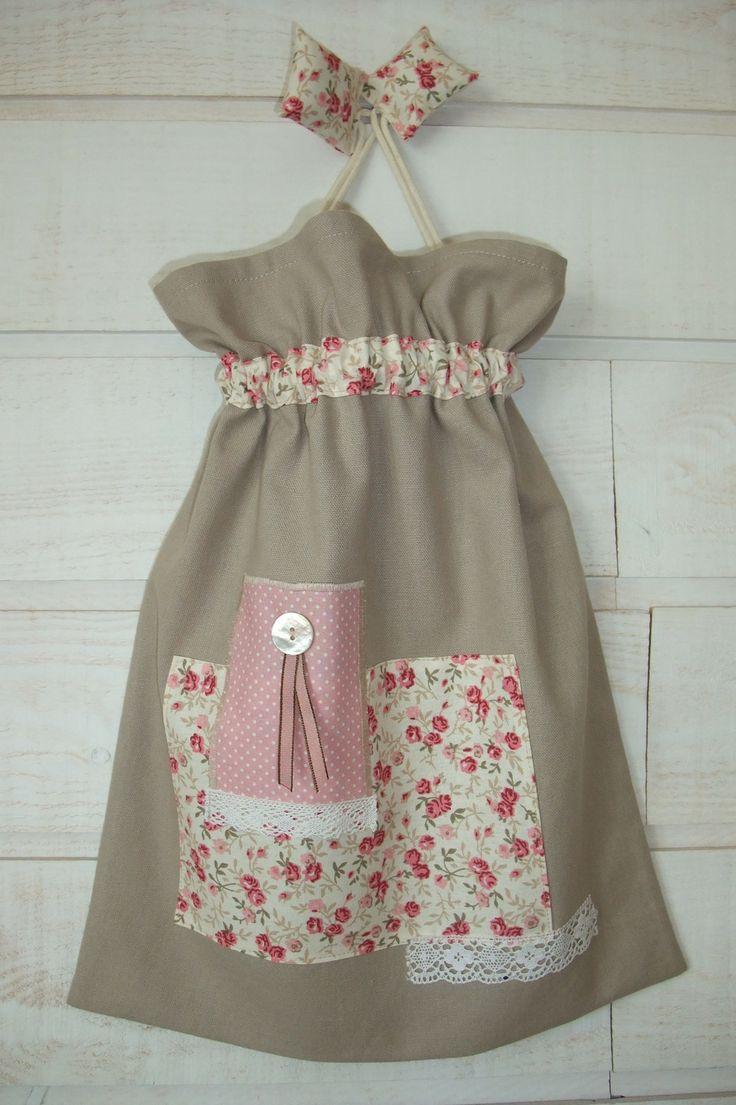 * Vendu * Sac à Lingerie / Pochon (n°78) taupe & liberty rose * : Bagagerie par kb-creations