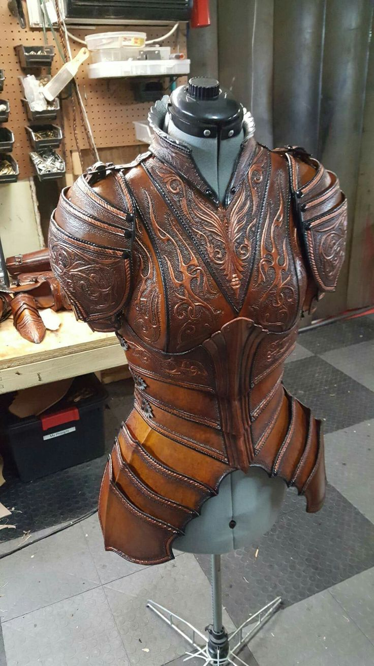 Weibliche Lederrüstung