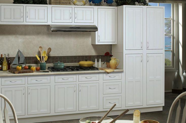 Palmetto White Cabinets bargain-outlets.com | Kitchen ...
