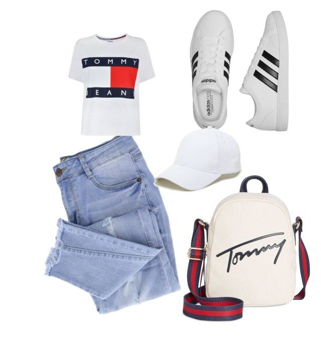 """""""Simple"""" by saryr on Polyvore featuring mode, Essie, Tommy Hilfiger, adidas et Sole Society"""
