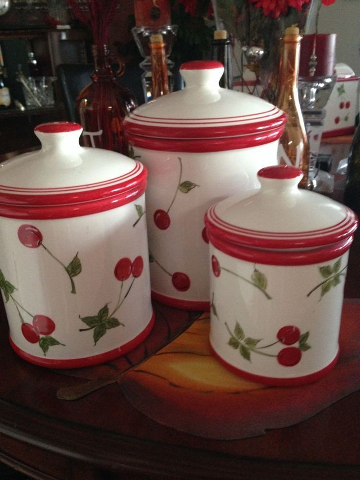 Cherry Kitchen Canister Set