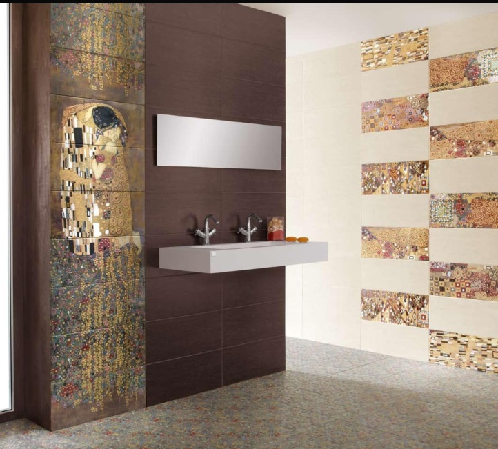 Delicieux Gustav Klimtu0027s U0027The Kissu0027 Tiles   Modern   Bathroom Tile   New York    Designer Tile Plus