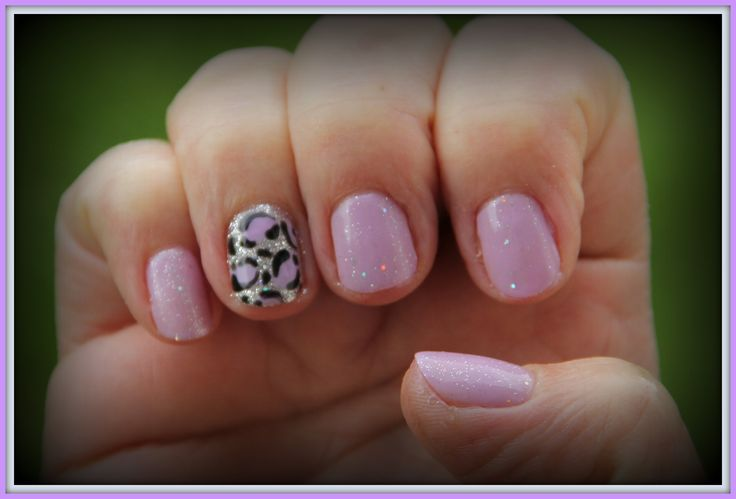 ♥ ibd just gel my babe with Gelish water field and loose glitter ♥