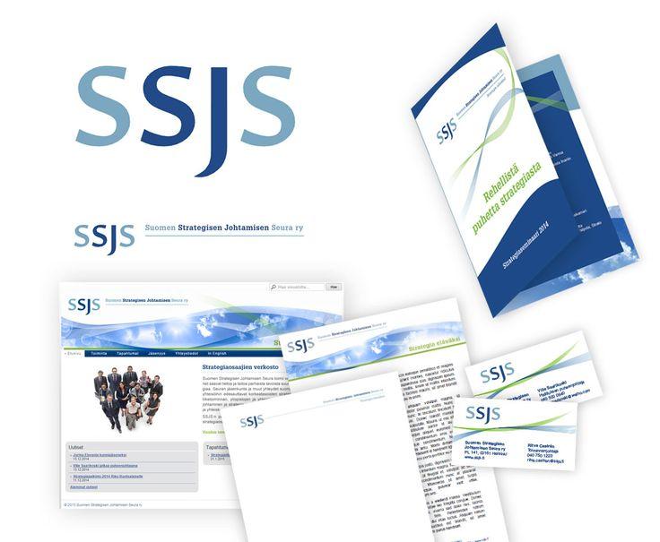 Projekti: logon ja ulkoasun uudistus, nettisivut sekä erilaisia markkoinointimateriaaleja Suomen Strategisen Johtamisen Seura www.ssjs.fi