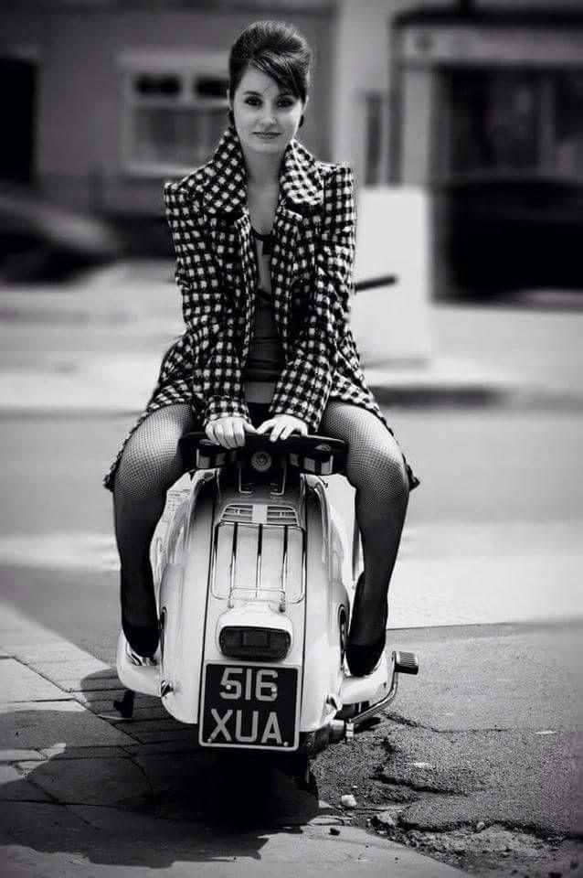 All things Lambretta & Vespa — Facing the wrong way madame.