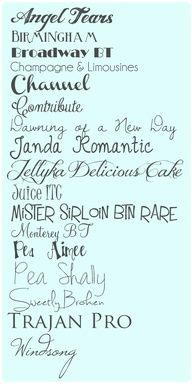 I really like Pea Aimee, the contrast between thin and thick - like modern caligraphy