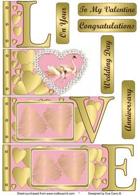 Love Word Book 4 on Craftsuprint designed by Eva Cano