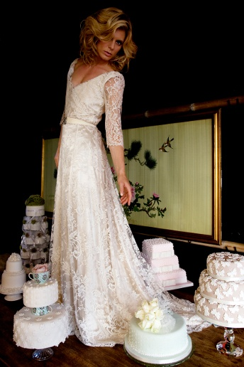 Halfpenny London  Ladylike lace has never been sweeter - and no, we're not talking about those wedding cakes! This figure-hugging gown is perfect for brides-to-be who want a romantic, vintage-inspired look on their wedding day.