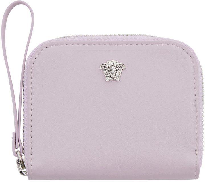 Versace Pink Medusa Zip Wallet