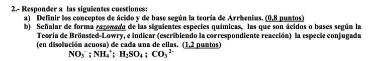 Ejercicio 2, propuesta 1, JUNIO 2003-2004. Examen PAU de Química de Canarias. Tema: ácido-base.