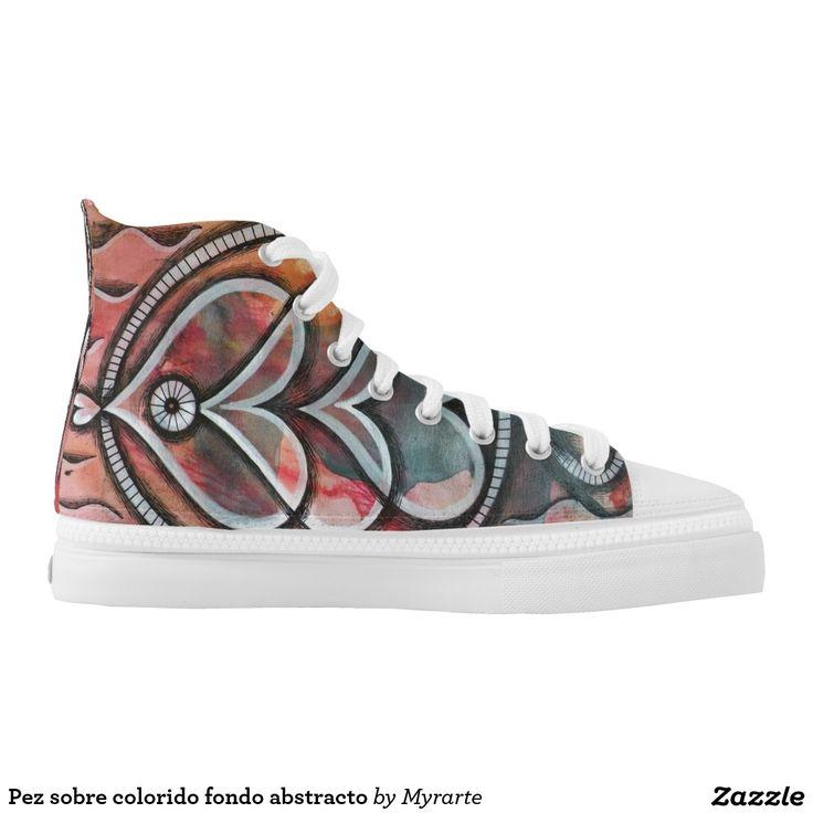 Pez sobre colorido fondo abstracto. Regalos, Gifts. #zapatillas #shoes