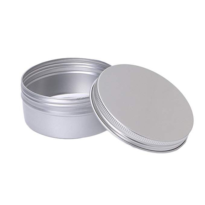 Amrka Aluminium Empty Cosmetic Pot Jar Tin Container Silver Screw Lid Box 5 1 Tin Containers Jar Containers Tin