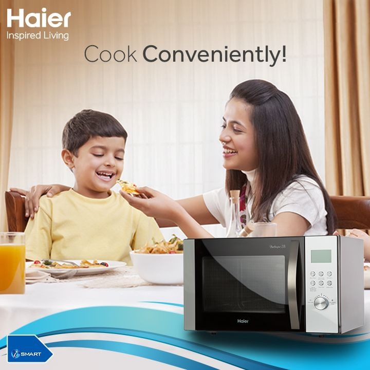 Why to waste your precious time only in the kitchen? Dish out amazing delicacies with a touch of a button. Try a range of #autocookmenu that your kiddos want. Know More about #Haier #Microwave