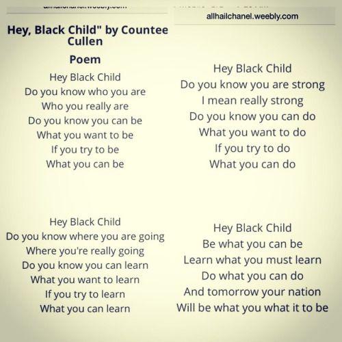 Image result for hey black child poem image