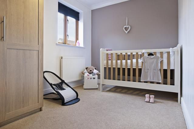 The Complete List of What to Buy When You're Having a Baby: This well-stocked nursery looks like a peaceful spot for baby's first few months.