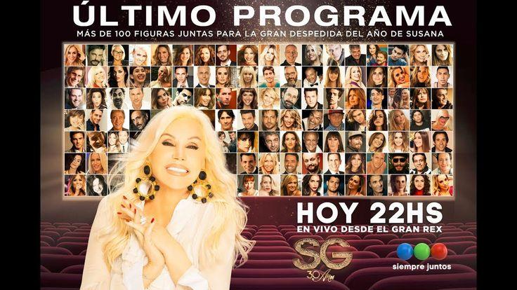 """HOY 22 HS - SUSANA GIMÉNEZ DESPIDE EL AÑO EN VIVO DESDE EL TEATRO """"GRAN REX""""."""