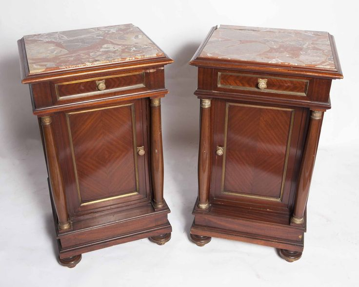Unusual Century French Second Empire Antique Bedside Table