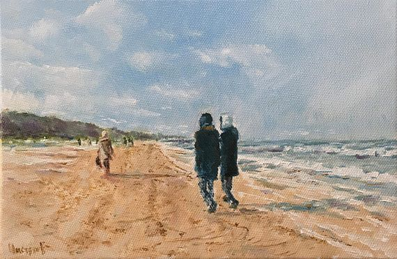 Oil Painting On Canvas Landscape Artwork Home Living Moden